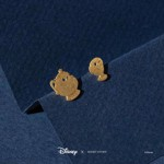 Disney - Beauty & The Beast - Mrs Potts & Chip Short Story Gold Stud Earrings - Packshot 2