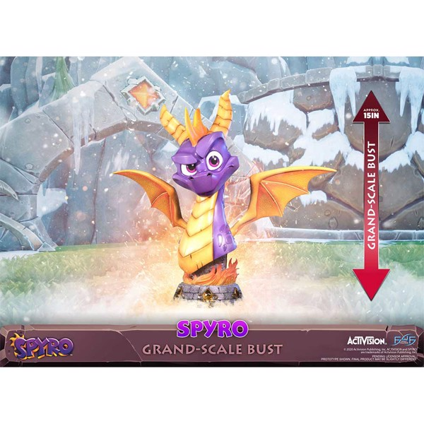 "Spyro the Dragon Grand-Scale 15"" Resin Bust - Packshot 2"
