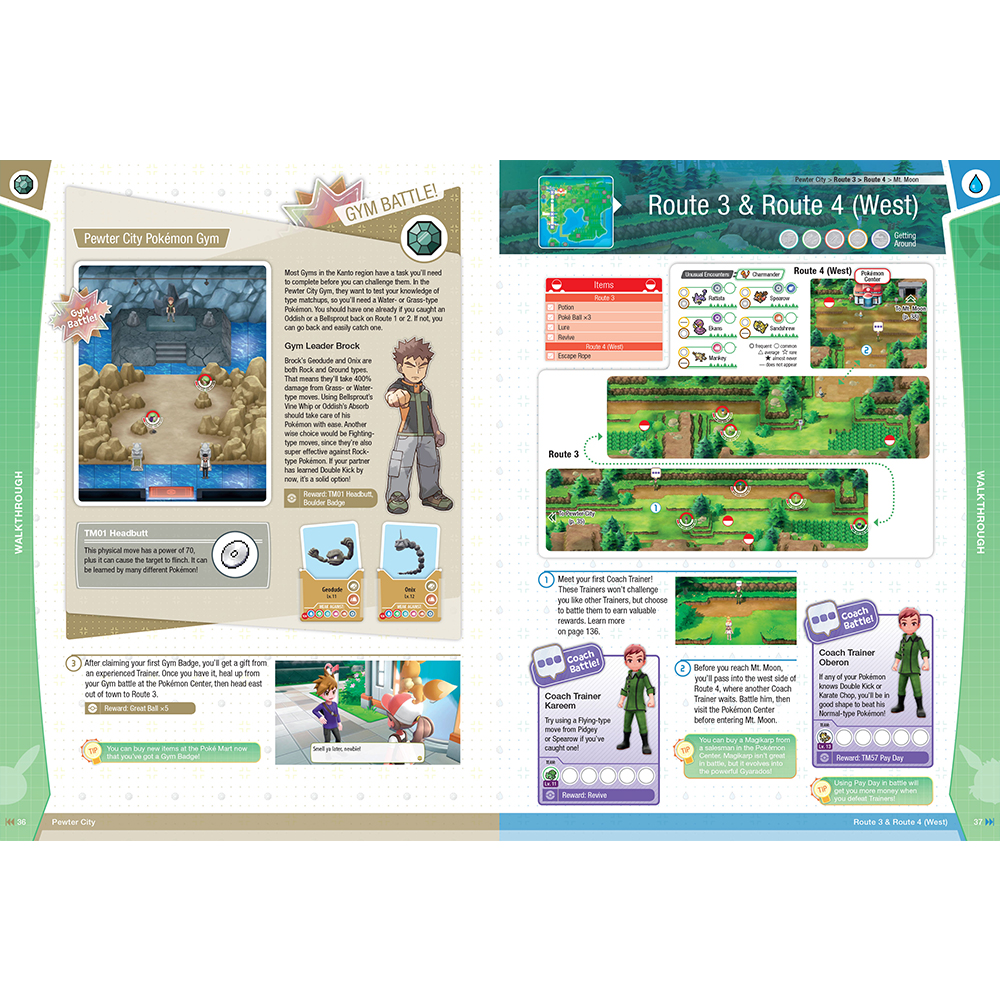 Pokemon: Let's Go, Pikachu! & Pokemon: Let's Go, Eevee! Official Trainer's Guide & Pokedex - Screenshot 2