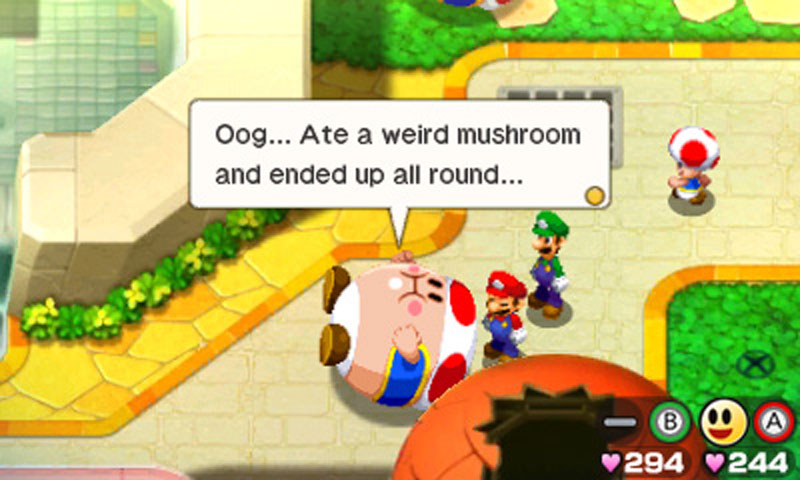 Mario & Luigi: Bowser's Inside Story + Bowser Jr's Journey - Screenshot 2