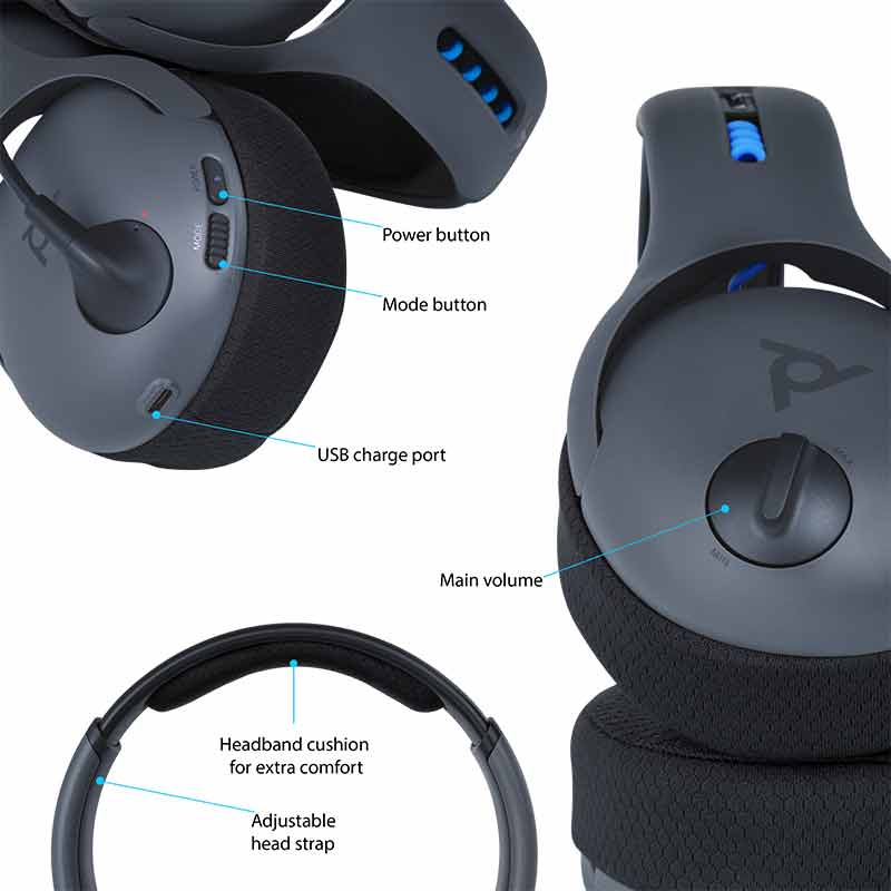 PDP Gaming LVL50 Wireless Stereo Headset for PlayStation 4 - Screenshot 3