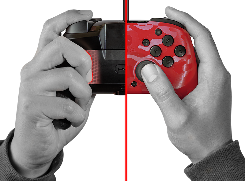 Faceoff Deluxe+ Audio Wired Controller - Red Camo - Screenshot 4