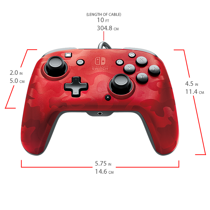 Faceoff Deluxe+ Audio Wired Controller - Red Camo - Screenshot 1